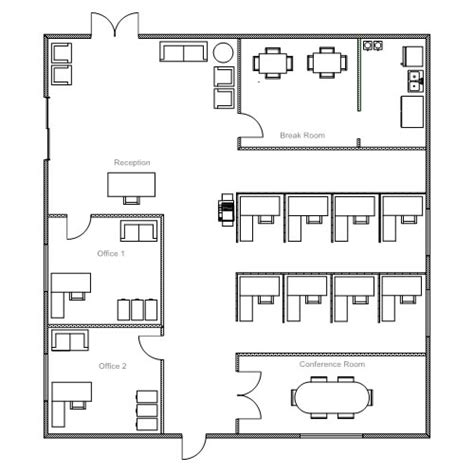 office floor plan templates ezblueprint