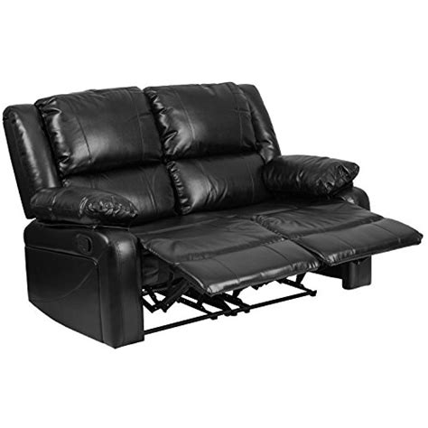 black recliners for sale flash furniture harmony series black leather loveseat with