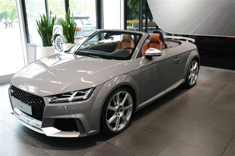 Gray Is The New by 2017 Audi Tt Rs Roadster Shows Nardo Gray Paint At Audi