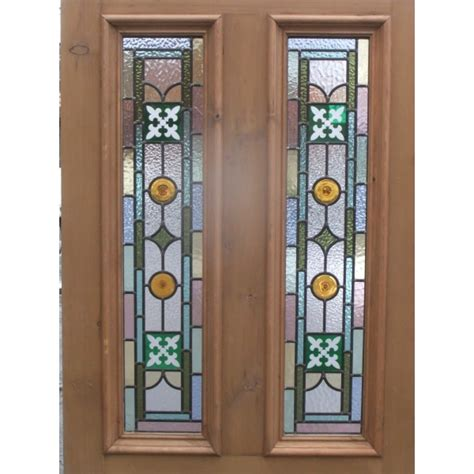 Door Stained Glass Sd059 Original Stained Glass Door The Kyle Fleur De Lys In Green