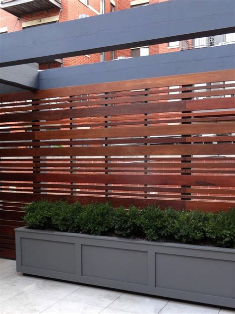 modern privacy fence top modern horizontal fence outdoor privacy