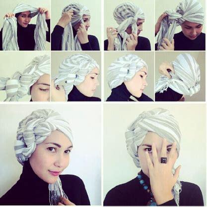tutorial hijab turban segi empat untuk pesta kreasi jilbab turban segi empat untuk pesta ala dian pelangi