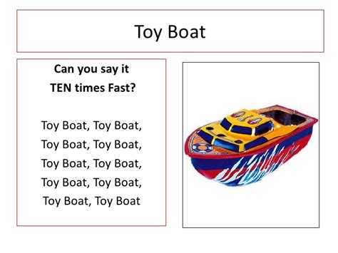toy boat tongue twister tongue twisters