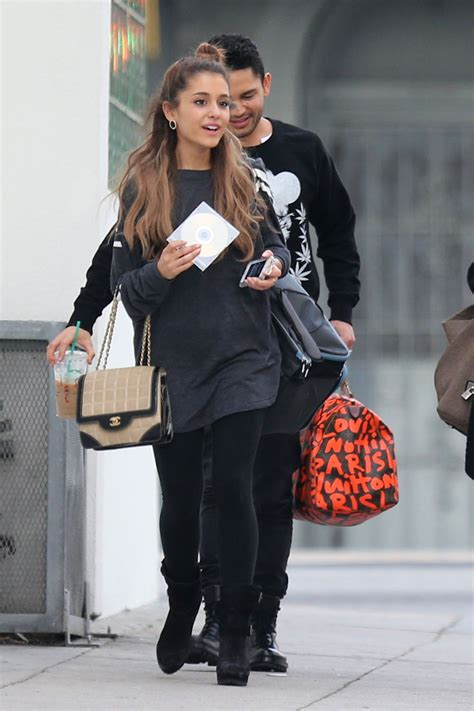 what is ariana grandes style ariana grande street style leaves a recording studio in