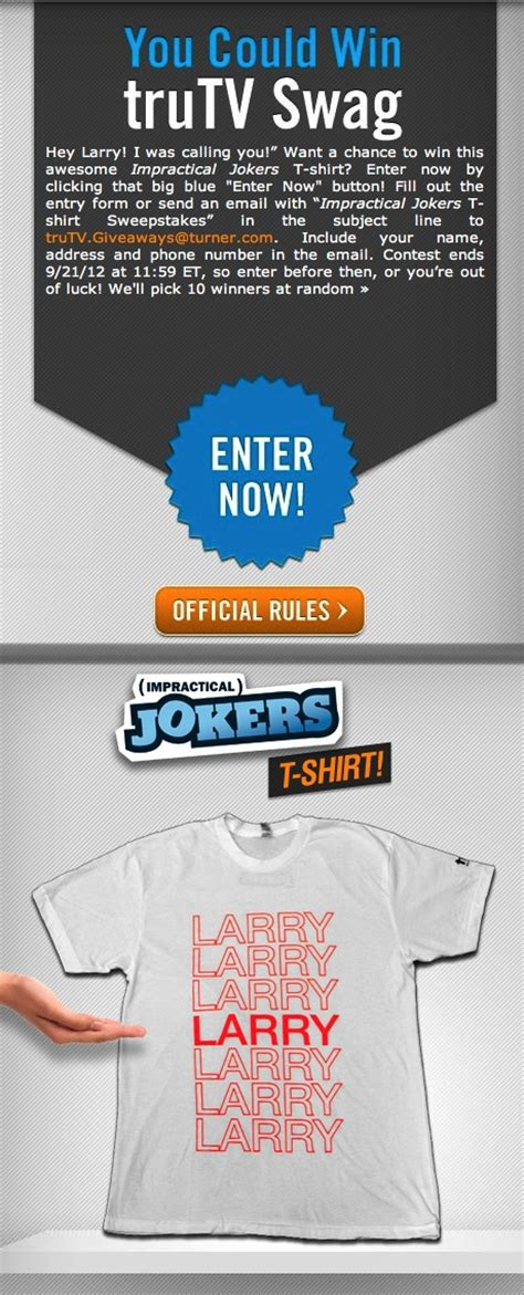 Enter Phone Number To Win Sweepstakes - pin by trutv on best impractical jokers clips pinterest