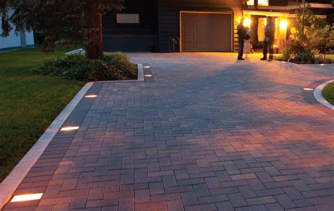 Patio Paver Lights Driveway Pavers Design Ideas