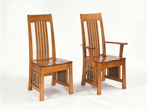 amish armani mission dining room chair