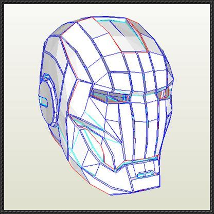 Papercraft Ironman Helmet - papercraftsquare new paper craft iron 2 helmet
