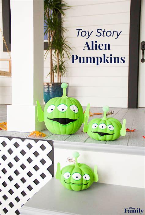 toy story alien pumpkins  halloween disney family