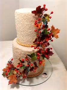White Chocolate Tree Decorations Fall Themed Wedding Cakes