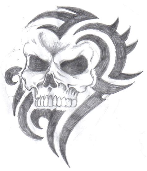 tribal skull by tattz79 on deviantart