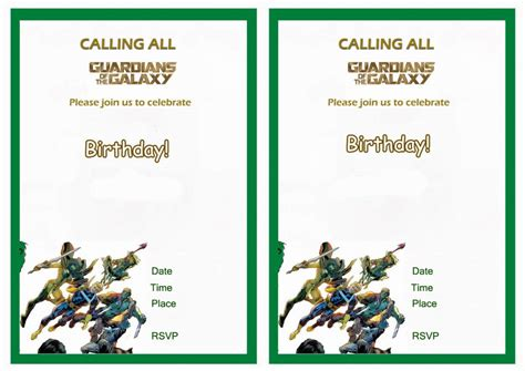 Guardians Of The Galaxy Birthday Invitations Birthday Printable Guardians Of The Galaxy Invitation Template