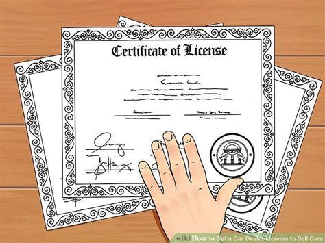 car dealer license  sell cars  steps