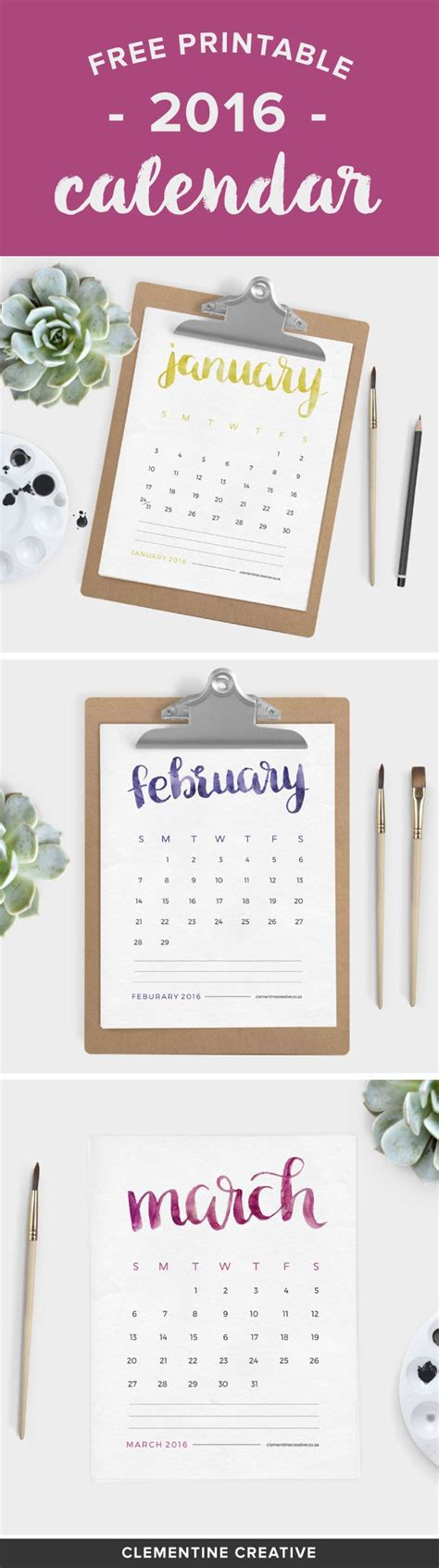 free printable desk planner 2016 free printable 2016 calendar by clementine creative 2016