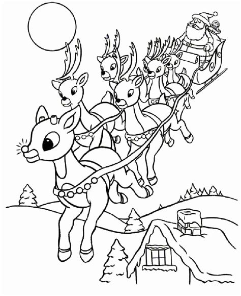 Coloring Pages For Christmas Reindeer | coloring pages for christmas reindeer az coloring pages