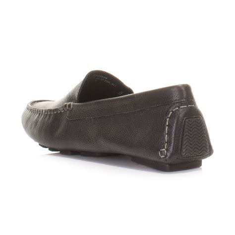 hush puppies mens shoes mens hush puppies monaco slip on black leather loafers shoes moccasins size 6 12 ebay