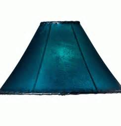 teal lampshade rawhide lamp shade western house d 233 cor