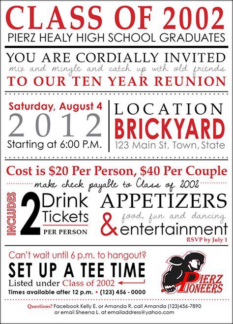 high school reunion invitation templates highschool reunion invitation on behance
