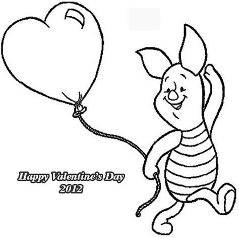 Winnie The Pooh Valentines Coloring Pages Winnie The Pooh Valentines Day Coloring Pages