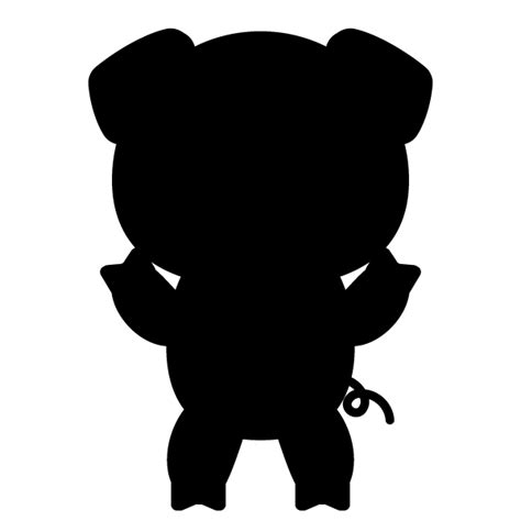 pig silhouette png
