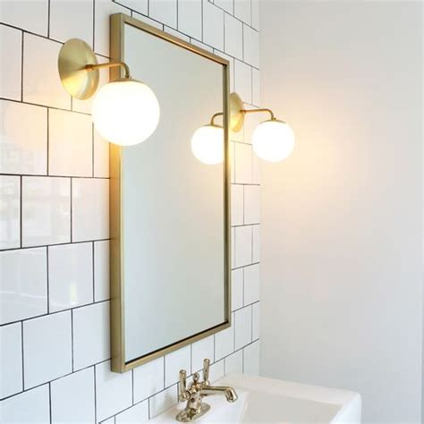 brass bathroom mirrors alto sconce 6 quot brushed nickel bathroom light fixtures