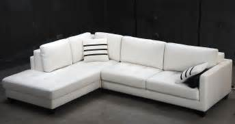 Modern L Sofa Contemporary White L Shaped Leather Sectional Sofa Modern