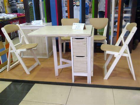Meja Makan Plastik Lipat jual meja makan lipat dan 4 kursi makan kayu mahoni white mapple karya sukses mandiri