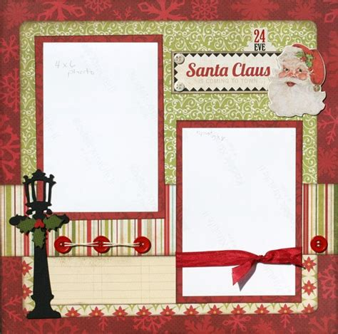 scrapbook layout christmas premade scrapbook page 12 x 12 christmas layout santa claus