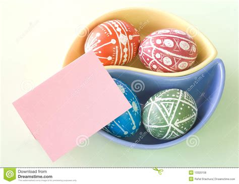 Handmade Easter Eggs - handmade easter eggs royalty free stock photos image
