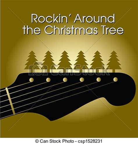 rockin   christmas tree vector background