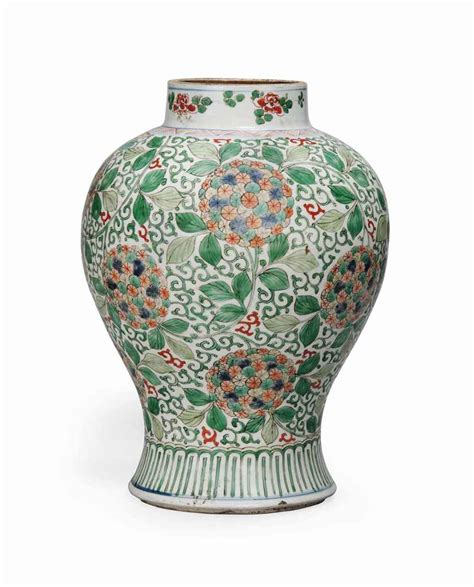 Baluster Vase by A Famille Verte Baluster Vase Kangxi Period 1662 1722 Christie S