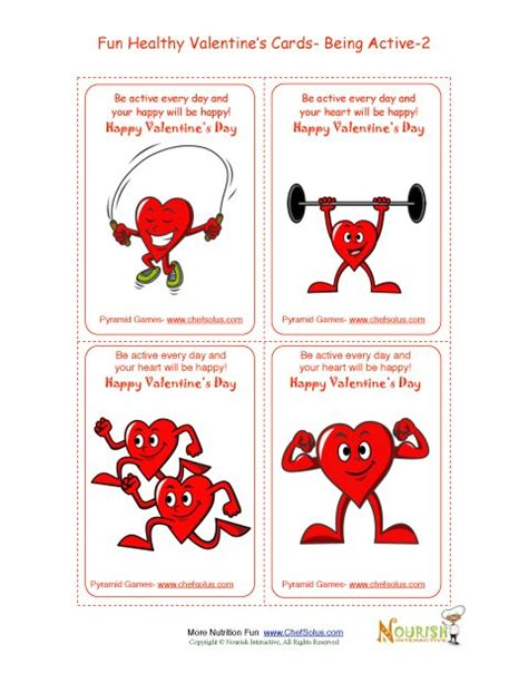 printable heart poster holiday 2 healthy heart fun valentine s day card