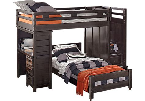 Creekside Bunk Beds Creekside Charcoal Step Bunk Bed With Desk Beds Colors