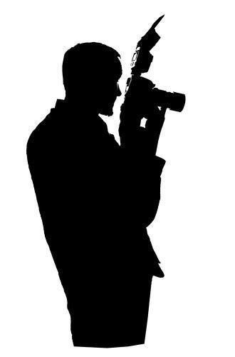 photographer silhouette photographer silhouette  white