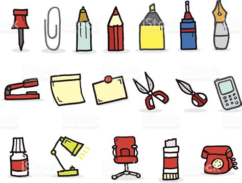 pictures of things cartoon things found in the office stock vector art more