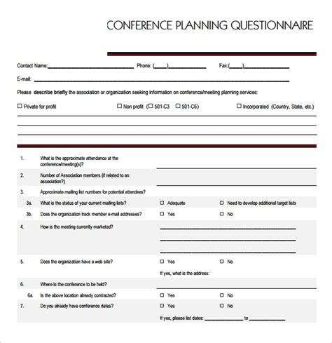 10 Conference Planning Templates Sle Templates Conference Template