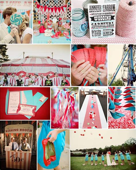 carnival themed wedding carnivals weddings idea color schemes kissing booth