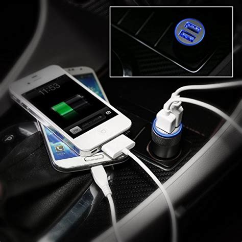 Travel Charger Ume 2 Usb 1a 21a Usb 3in1 Kabel Original car charger eleckeytm 2 1a dual usb port car charger