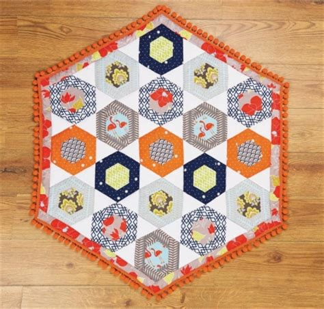 Patchwork Quilt Blocks - hexagon block patchwork quilt free sewing patterns sew