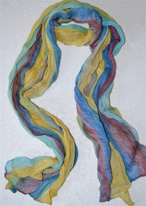 multi colored crinkle scarf