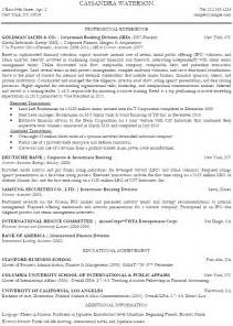 Resume Profile Exles Banking Investment Banking Analyst Resume Sle Recentresumes