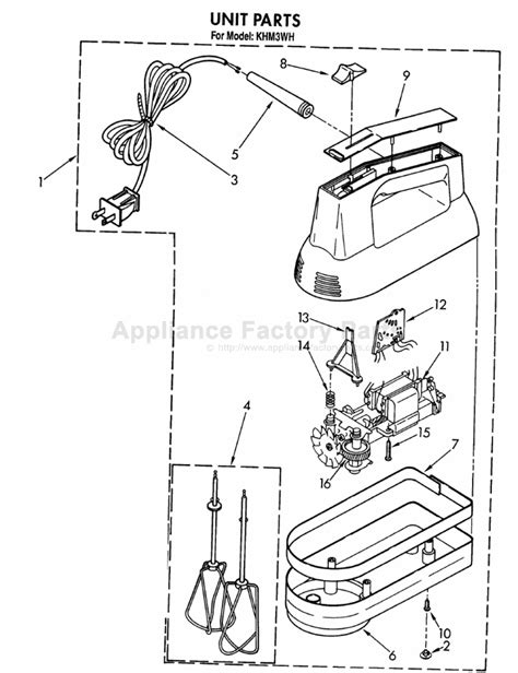 Parts for KHM3WH   Kitchenaid   Mixers