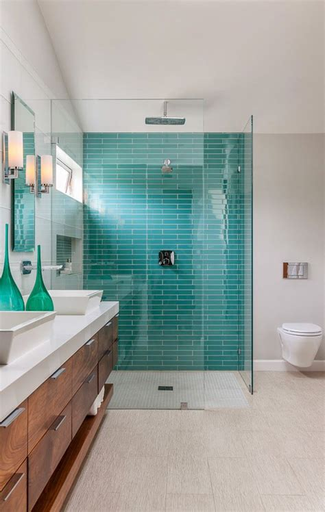 Blue amp green bathroom tiles the style files