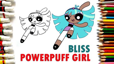 coloring pages bliss youtube how to draw fourth powerpuff girl bliss narrated youtube