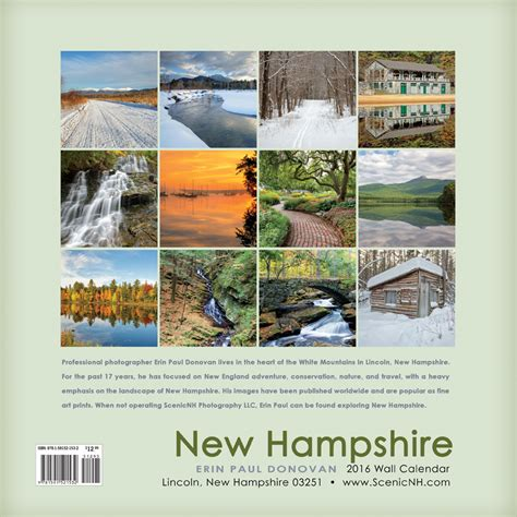 collage of from maine to new hshire 2016 new hshire wall calendar by erin paul donovan