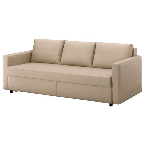ikea folding couch friheten three seat sofa bed skiftebo beige ikea