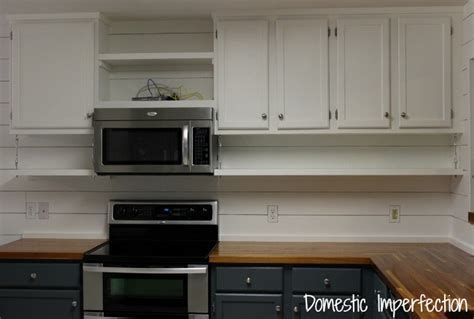 under cabinet shelf kitchen farmhouse kitchen on a budget the reveal domestic