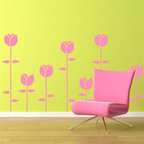 tulip wall stickers tulips wall decal