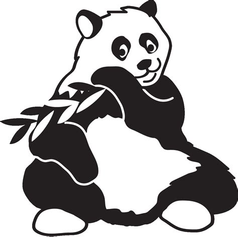 Panda Outline Drawing by Panda Line Drawing Clipart Best
