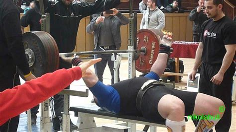 max bench record ivaylo hristov broken bulgarian bench press record